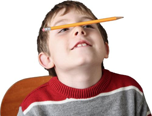 adhd kid with pencil